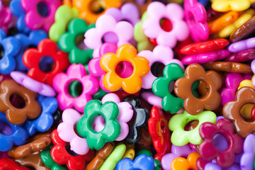 colorful Flowers bead background