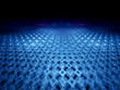 Blue futuristic grid