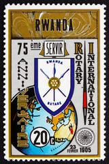 Postage stamp Rwanda 1980 Rotary International