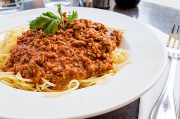 tasty pasta-Italian meat sauce pasta