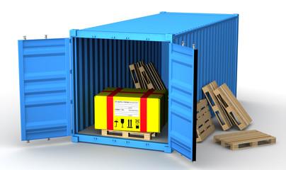 Почтовая коробка в грузовом контейнере