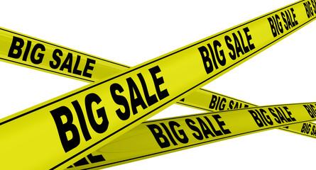 Большая распродажа (big sale). Желтая оградительная линия