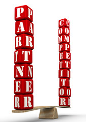 Партнёр или конкурент. Сравнение на весах