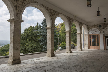 Arches of the Academic (Elizabethan) gallery in Pyatigorsk, Russ