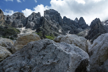 Rugged peaks of the Pale di San Martino