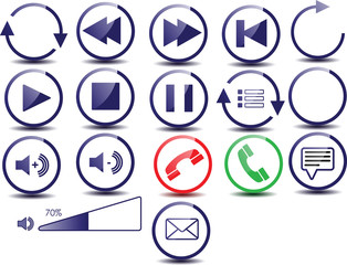 Webicons for telephone