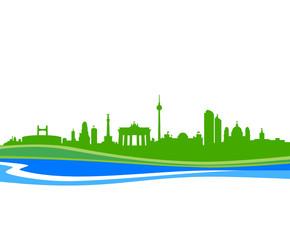 Skyline Berlin Wasser
