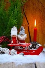 Weihnachtskarte - Wichtel