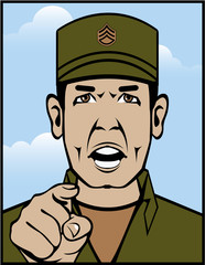 Sgt Duty color vector
