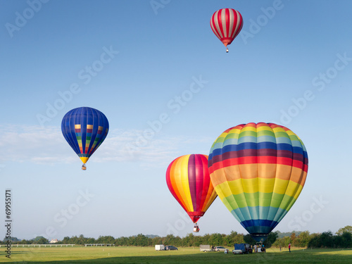Deurstickers Ballon Montgolfiere #80