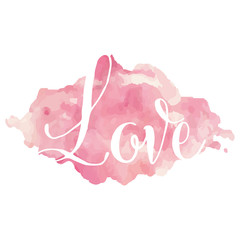 Love in watercolors