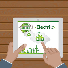 set of ecological web icons