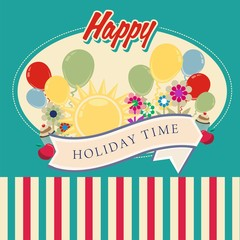 Happy Holiday time vector