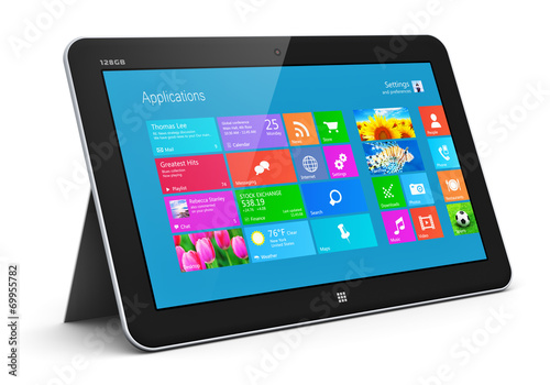 canvas print picture Tablet computer