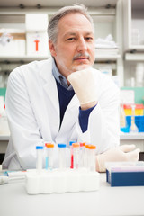 Portrait of a scientist in his laboratory