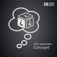 idea concept, icon set Business and Innovation