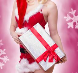 Weihnachstgeschenk sexy präsentiert