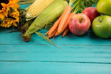 fresh vegetables on table