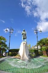 Piękna fontanna w Amalfi, Włochy