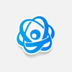 realistic design element: atom