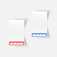 realistic design element: ruler