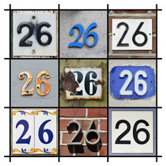 Collage of House Numbers Twenty-six