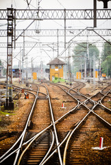 Railway junction. Tracks and station