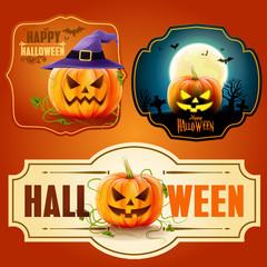 halloween badgesand stickers,