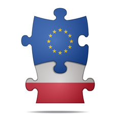 puzzle pieces europe and poland