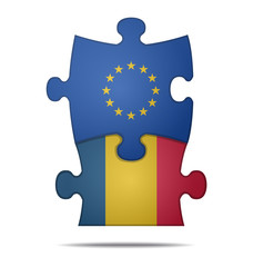 puzzle pieces europe and romania