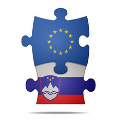 puzzle pieces europe and slovenia