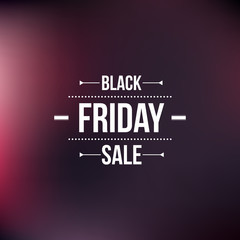 Black friday sign, typographic design