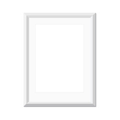 White picture frame, vector illustration