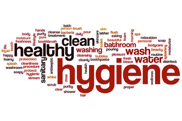 Hygiene word cloud