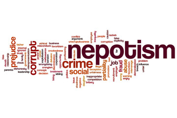 Nepotism word cloud