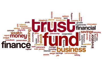 Trust fund word cloud