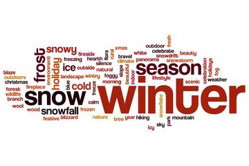 Winter word cloud