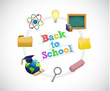 back to school education cycle concept