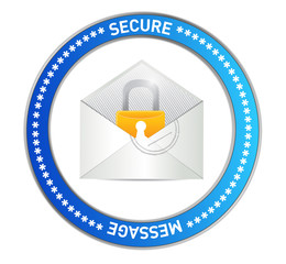 email security message illustration design