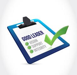good leader check mark clipboard illustration