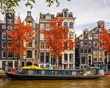 Buildings on canal in Amsterdam