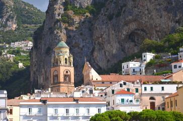 Pięknie zdobiona katedra w Amalfi, Włochy