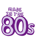 Made in the 80s Text Logo poster