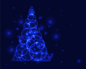 Blue christmass tree