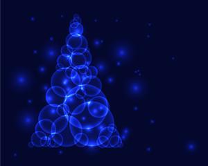 Blue christmass tree