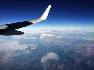Andalusische Berglandschaft von ober