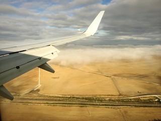 Landeanflug mit Schatten