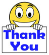 Thank You On Sign Shows Gratitude Texts And Appreciation