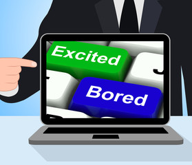 Excited Bored Keys Displays Exciting And Boring Websites