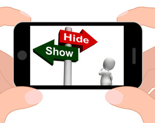 Show Hide Signpost Displays Conceal or Reveal